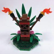 Constructibles® Tiki Mini Model LEGO® Parts & Instructions Kit
