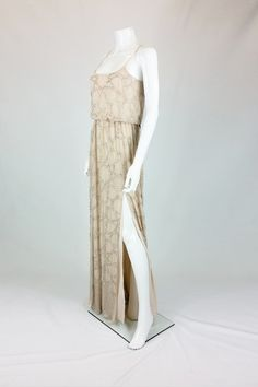 NEEDLE & THREAD CONSTELLATION SEQUINNED CHIFFON MAXI DRESS UK 8