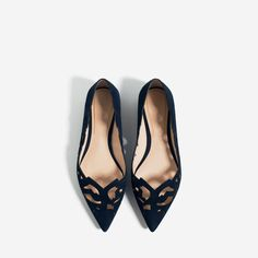 LASER-CUT LEATHER BALLET FLATS-View all-SHOES-WOMAN   ZARA United States