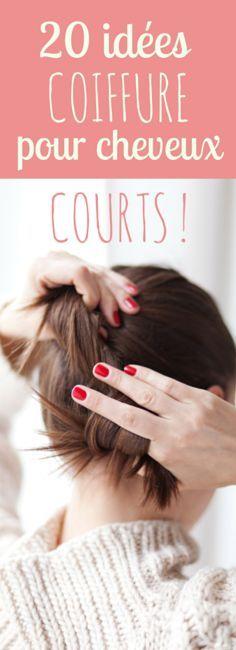 20 idées et tutos coiffure pour cheveux courts !                                                                                                                                                                                 Plus