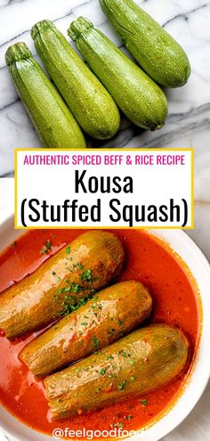 This authentic Kousa recipe is a popular Middle Eastern dish made with a spiced beef