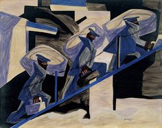 Jacob Lawrence, War Series: Another Patrol,1946 51.8/ abstracted color and shape/ http://whitney.org/Collection/JacobLawrence
