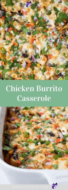 Chicken Burrito Casserole Chicken Burrito Casserole #chicken #burrito #casserole #baked #easy #bowl #shredded #healthy #recipe #freezer #lunch #dinner #mealprep #glutenfree<br> This Chicken Burrito Casserole recipe is everything you love about burritos; packed full of rice, beans, spices and cheese, made in one pan. Chicken Burrito Casserole Recipe, Healthy Casserole Recipes, Chicken Burritos, Potato Casserole, Casseroles Healthy, Gluten Free Chicken Casserole, Healthy Shredded Chicken Recipes, Healthy Chicken Burrito Recipe, Chicken Casserole