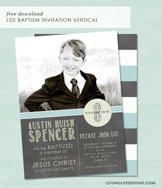 Loving Life Designs - Free Graphic Designs and Printables: LDS Baptism Invitation Vertical Design {Free Download}