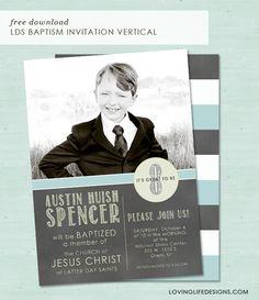 Loving Life Designs - Free Graphic Designs and Printables: LDS Baptism Invitation Vertical Design {Free Download}