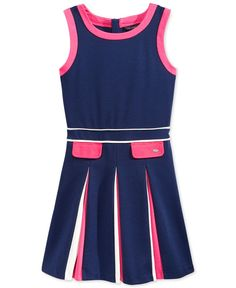 Tommy Hilfiger Girls' Colorblocked Pleated Dress