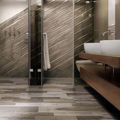32 ideas for porcelain tile in bathroom and shower 2019 Tile Showroom, Porcelain Tile, Bathroom Inspiration, Home Improvement, House Design, Shower, Interior Design, Wood, Tile Ideas