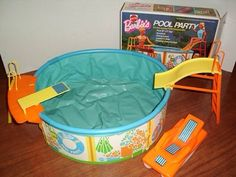 I had this Barbie Pool. Toys I grew up with