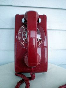 Red Rotary Wall Phone. You Had To Have The 20ft Cord To Have A Private Call  | Things From My Youth | Pinterest | Walls And House