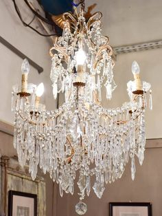 century Italian crystal chandelier Light and Chandelier crystal Chandelier Victorian Chandelier, Vintage Crystal Chandelier, French Chandelier, Crystal Pendant, Crystal Chandeliers, Crystal Sconce, Brass Sconce, Sconces, Chandelier Makeover