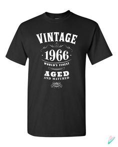 50th Birthday Gift Vintage 1966 T-shirt Tshirt Tee by TeenieTees