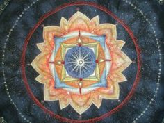 'tapestry of light ' wallhanging  - centre