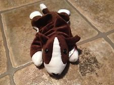 1997 BRUNO THE BROWN WHITE DOG PUPPY BEANIE BABIES BABY WITH TAG Beenie Babies, White Dogs, Dogs And Puppies, Baby Shoes, Beanie, Brown, Kids, Ebay, Young Children