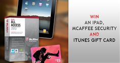 Win a iPad / McAffee Security and Itunes GiftCard