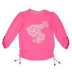 Sunuva Girls Lace Rash Vest - Bright Pink #girls #kidswimwear #sglittlepockets