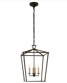 """1 Darlana Lantern in Aged Iron for Dining Terrace 24"""" tall"""