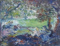 Jack Butler Yeats RHA Indians Oil on board, 36 x 46 cm. x 18 in.) Signed Painted in 1950 Previously on sale at Adam's. Jack B, Irish Art, Painted Signs, Contemporary Artists, Impressionist, Butler, Painters, Sculpture Art, Trees