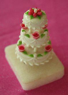 White Tier Miniature Wedding Cake | Flickr - Photo Sharing!