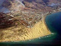 Playa del Inglés y punta de Maspalomas en Gran Canaria