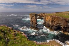A View of Yesnaby Castle. West Mainland Orkney. Scotland.