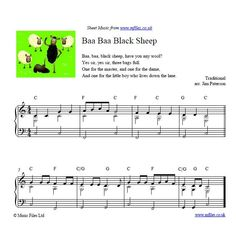 Baa Baa Black Sheep - nursery rhyme
