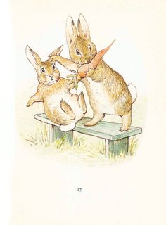 Vintage printing- Beatrix Potter bunnies (lots more pictures) I ❤ Beatrix potter !