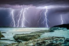 Majestic: Myriad thunder bolts banish the gloom in this massive electrical storm over Western Australia in this picture taken by storm chasing photographer Craig Eccles Weather Cloud, Wild Weather, Tornados, Thunderstorms, Lightning Photos, Cool Pictures, Cool Photos, Thunder And Lightning, Lightning Storms