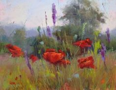 Poppies by the Roadside, painting by artist Karen Margulis by lorene