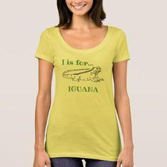 I is for Iguana T-Shirt -nature diy customize sprecial design