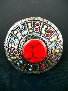 Vintage Handmade Ring Women Afghan Kuchi Tribal Jewelry Antique Antique Banjara…