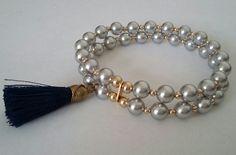 Pulsera con perlas Swarovski de Creaciones Little Flower.