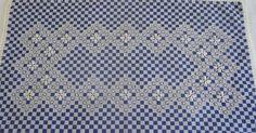 Aproveito hoje também para postar um trabalho super bonito que minha mãe fez: o bordado em tecido xadrez.  Vejam que legal!               ...