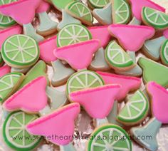 Cute Key West bachelorette party themed cookies!