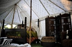 Love the Gypsy style of Living, under the Canvas by www.indiantents.com
