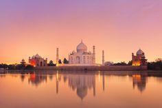The beautiful Taj Mahal, India.