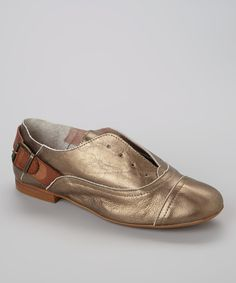 Loving this Bronze Kerry Leather Slip-On Oxford on #zulily! #zulilyfinds