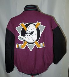 Starter Mighty Ducks NHL Jacket Extra Large XL Wool Purple Vintage  Starter   AnaheimDucks 441c4d1d9