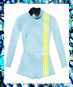"""7 Wetsuits For Your Next """"Hang 10"""" #refinery29 http://www.refinery29.com/2015/01/80720/cynthia-rowley-surf-and-swim-collection"""