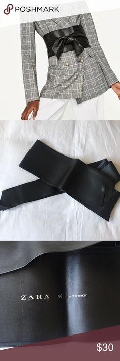ZARA wide leather belt Zara faux leather wide tie belt. Never worn. In perfect condition. Accessories Belts