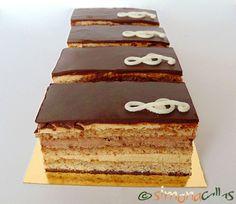 Prajitura Opera - Tort Opera - un desert rafinat - simonacallas Wedding Cake Fillings, Romanian Desserts, Opera Cake, Food Cakes, Something Sweet, Halloween Treats, Vanilla Cake, Nutella, Cake Recipes