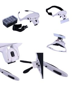 [Visit to Buy] Creative gift 1.0X 1.5X 2.0X 2.5X 3.5X 5 Lens Adjustable Loupe Headband Magnifying Glass Magnifier with LED Magnifying Glasses #Advertisement
