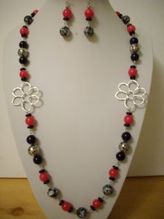 Black and White Mother of Pearl Fuschia Pink by DesignsbyPattiLynn, $65.00