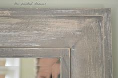 how to give a cheap mirror an expensive weathered wood finish, chalk paint, home decor, how to, painted furniture - pinnervation Mirrored Furniture, Paint Furniture, Cheap Furniture, Furniture Deals, Furniture Refinishing, Furniture Design, Diy Dresser Makeover, Furniture Makeover, Barn Wood Mirror