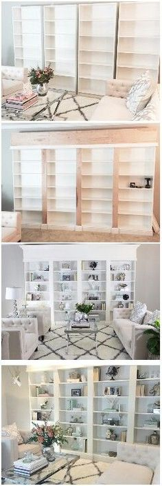Discover Thousands Of Images About Diy Built In Bookcases Made With Ikea Hemnes Furniture Custom Built In Storage Ikea Hack