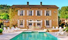 Location d'un #manoir de #vacances avec #piscine, parc et dépendance entre Lot et Dordogne. Vacation rental in Dordogne, France.