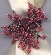 Finger Corsages by margo Field - Beadwork - 07/13/00.  Verbal tute but easy to do. ~ Seed Bead Tutorials