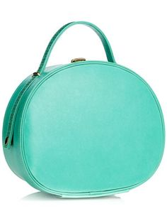 Turquoise Leather Cutwork Vanity Case