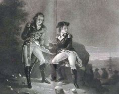 Meeting between John Andre and Benedict Arnold | Rare Portrait of Benedict Arnold betraying his country to John Andre