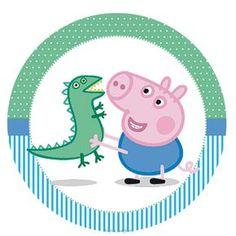 Para personalizar, imprimir y disfrutar de un cumple o baby shower temático! Para descargarlo completo ingresá el siguiente enlace: Kit... Cumple George Pig, Peppa E George, George Pig Party, Peppa Pig Baby, Cumple Peppa Pig, Peppa Pig Family, Disney Pig, Peppa Pig Wallpaper, Pig Baby Shower