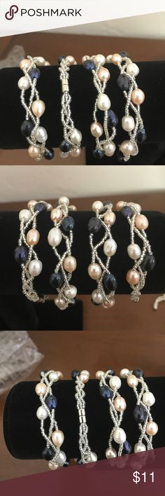 Multi color pearl bracelets Multi color pearl bracelet with magnetic clasp $14 each Jewelry Bracelets